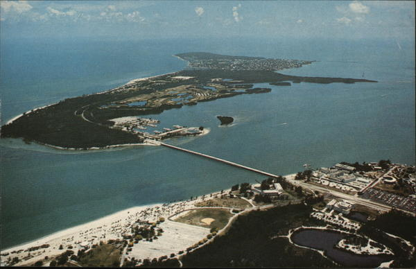 Key Biscayne From the Air Miami Florida