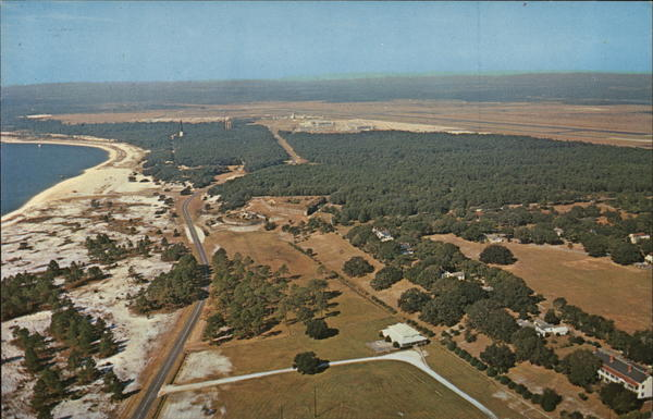 Aerial View of Fort Barrancas and Fort San Carloson the Naval Air Station Pensacola Florida