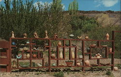 Outdoor Display at Bowler's Snake River Pottery