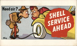 Need air? Shell Service Ahead
