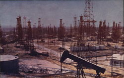 Oil Wells on Signal Hill Postcard