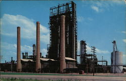 Oil Refinery Scene Postcard
