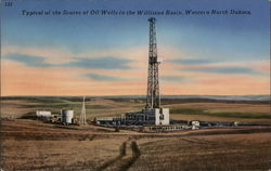Typical of the Scores of Oil Wells in the Williston Basin