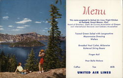 United Menu / Crater Lake, Oregon