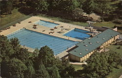 Indiana University - Outdoor Swimming Pool Postcard