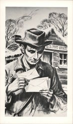 Abraham Lincoln the Postmaster Postcard