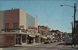 Street Scene Looking North - Spring Valley Theatre Postcard