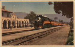 "Southern Pacific ""Noon Daylight"" at Santa Barbara, California"