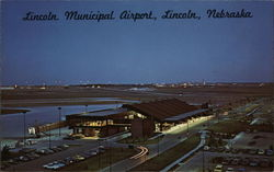 Lincoln Municipal Airport Postcard