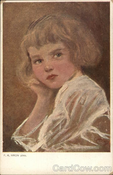 Portrait of a Girl Frantisek Karel Hron Children