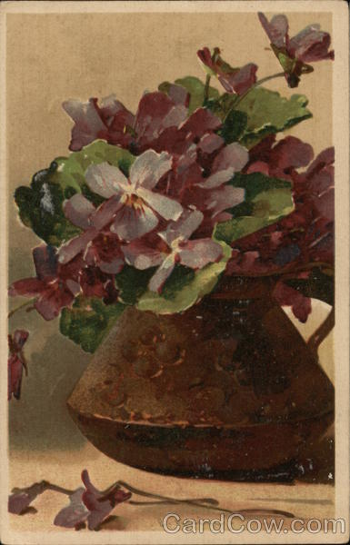 Purple Flowers in Vase C. Klein