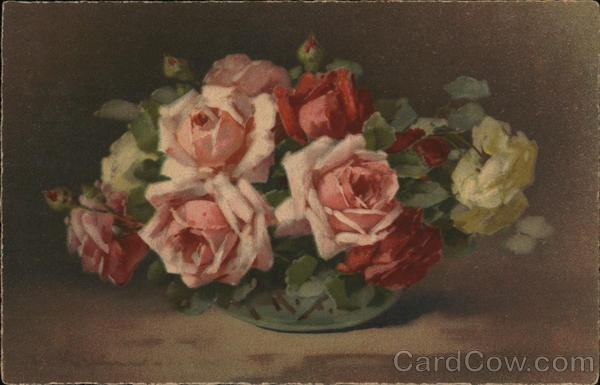 Bowl with Roses C. Klein