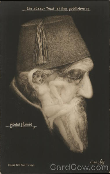 Abdul Hamid Older Man with Face Comprised of Naked Women