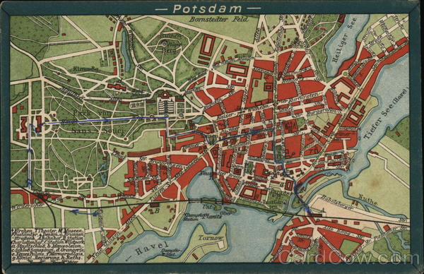 Street Map of Potsdam