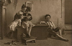 Children Playing Cards