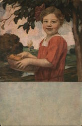 Portrait of a Girl with Fruit Basket
