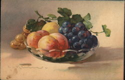 A plate of fruits