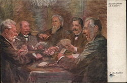 Men playing cards