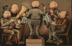 "Fanfare d' Ecublens ""Butt Faces"" Postcard"