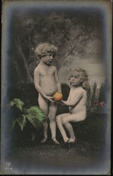 Nude Children with Fruit - Adam & Eve