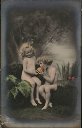 Nude Children with Fruit