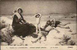 The Beach - Women, Nude Children