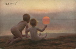Nude Children Watching Sun