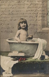 Bath Time - Girl in Tub