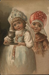 Russian Children with a chalise