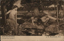Echo and Narcissus - J. W. Waterhouse, R.A.