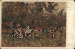 Gathering of People in a Field Near Trees