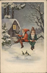 Two Elves, Gnomes on a Branch