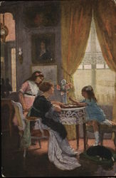Girls Gathered Around Table