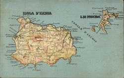 Map of isola d'ischia and i. di procida