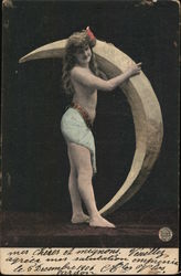 Woman Holding Moon