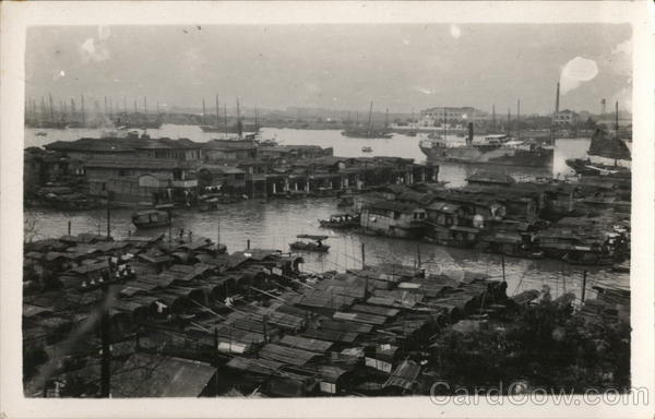 View of Bay, Boats (Saipans) Canton China