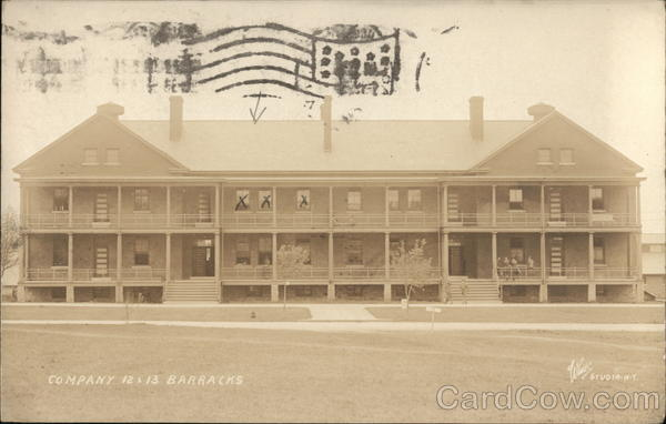 Company 12 & 13 Barracks Sackets Harbor New York World War I