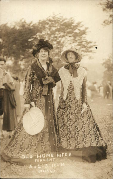 Women at Old Home Week Pageant Aug. 3-10-1914 Utica New York