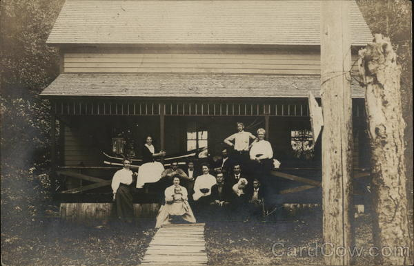 A Group of Vacationers, Pleasant Lake Cottage Dolgeville New York