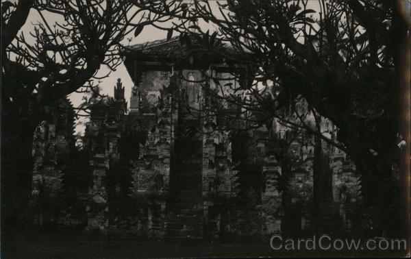 View of Temple in Jungle Indonesia Southeast Asia Interesting Cancels
