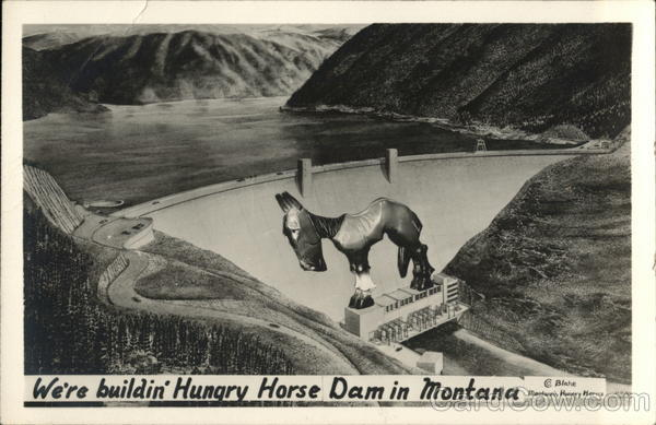 Hungry Horse Dam and Reservoir Montana