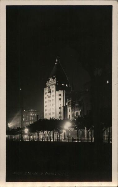 Cathay Hotel at Night