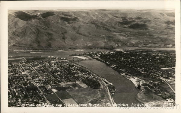 Junction of Snake and Clearwater Rivers Clarkston-Lewiston Idaho