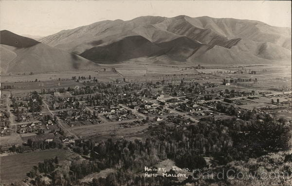 Aerial View Hailey Idaho