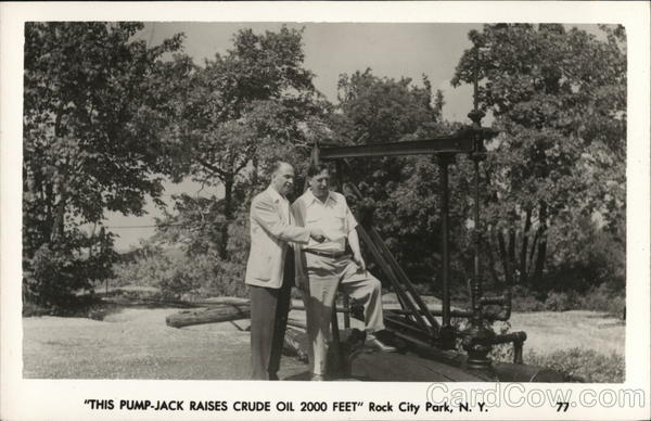 This Pump-jack Raises Crude Oil 2000 Feet, Rock City Park Olean New York