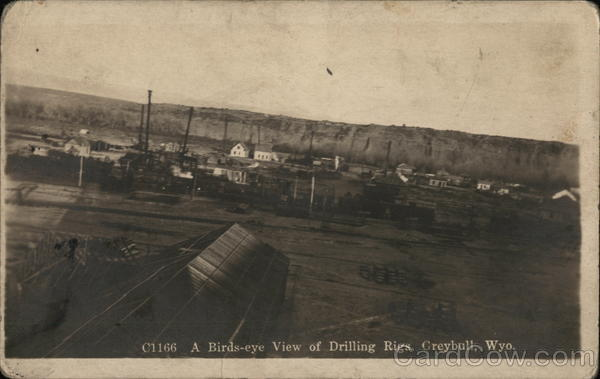 A Birds-eye View of Drilling Rigs Greybull Wyoming