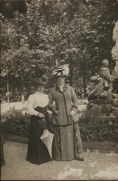 Snapshot of Two Women in Park