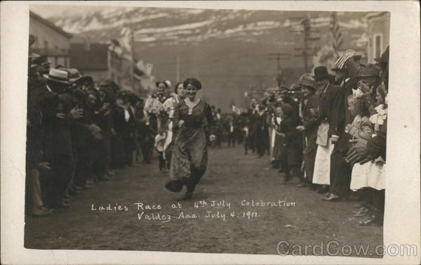 1911 Ladies Race at 4th of July Celebration Valdez Alaska
