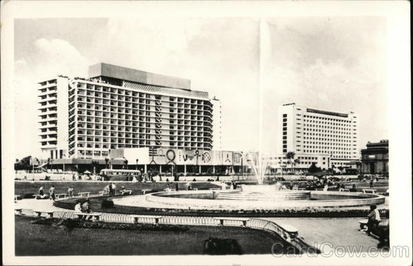 The Nile Hilton Hotel and Municipality Building Cairo Egypt