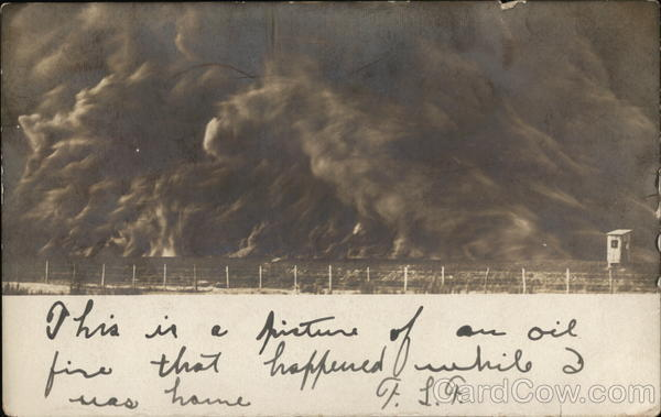 Oil Fire In Humble, Texas, 1905